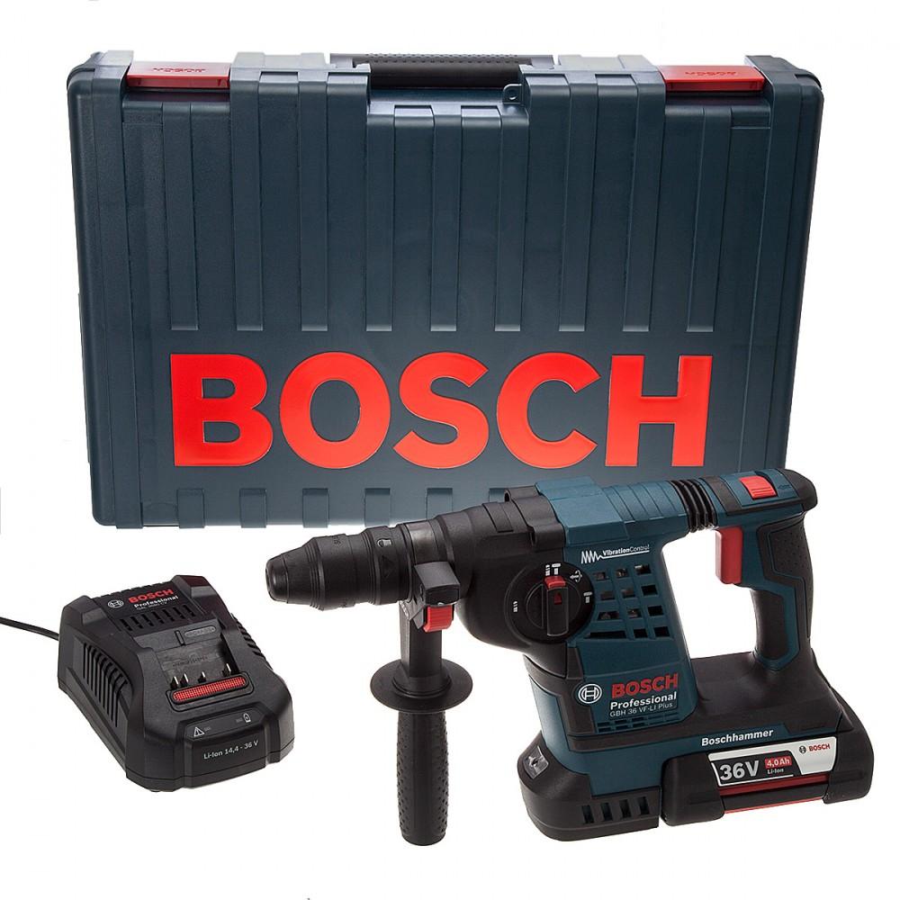 bosch gbh36vfli 36v cordless li ion sds borhammer 1 x 4ah batteri med ekstra selvspennende. Black Bedroom Furniture Sets. Home Design Ideas